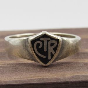 Size 8 Sterling Silver Rustic Mormon Religion Band